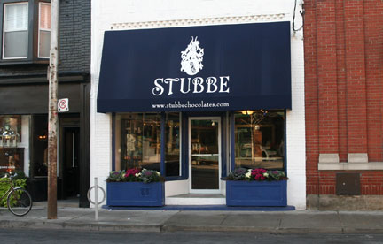 Stubbe shop front in Toronto