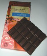 chocoholly milk chocolate 46% cocoa bar partly munched by me