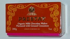 Prestat Organic chocolate wafers with cinnamon