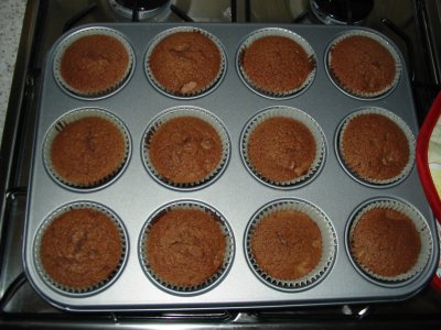 baked cupcakes fresh out of oven