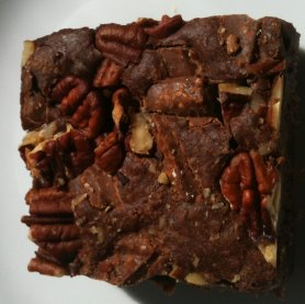 paul a young pecan brownie closeup