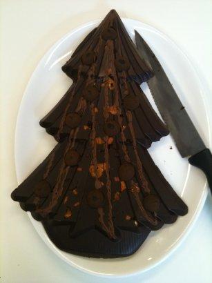 hotel chocolat truffle tree with knife