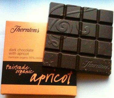thorntons apricot fairtrade organic chocolate bar