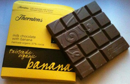 thorntons banana fairtrade organic chocolate bar