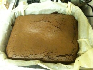 brownies bake until the crust forms and cracks