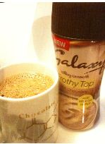 galaxy frothy top hot chocolate