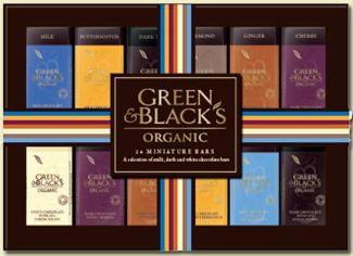 green and blacks 24 Chocolate Miniatures collection