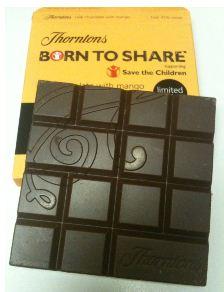 Thorntons Haiti Milk Chocolate with Mango Save The Children Bar