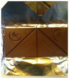 moonstruck milk chocolate bar triangle foil