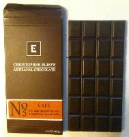 christopher elbow no 5 cafe dark chocolate bar