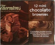 thorntons mini chocolate brownies