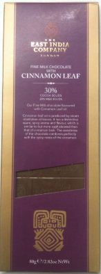EIC cinnamon leaf chocolate bar box