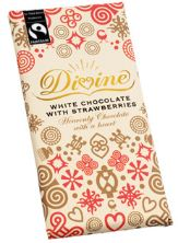 divine white chocolate strawberries wrapper
