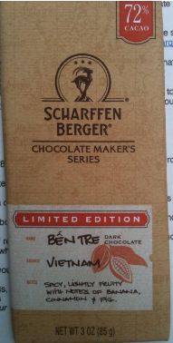 Scharffen Berger ben tre chocolate wrapper