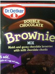 dr oetker brownie mix