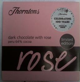 thorntons rose chocolate bar