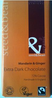 Seed and Bean Mandarin and Ginger Dark Chocolate Bar Review