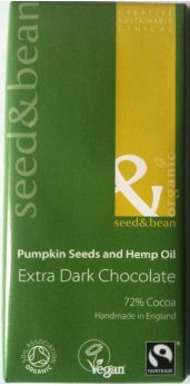 Seed and Bean Pumpkin  Seeds and Hemp Oil Chocolate Bar Review