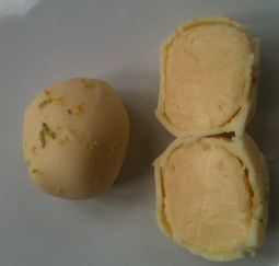 fudge fancies champagne truffles open