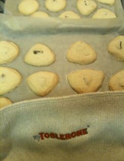 toblerone shortbread cookies finished