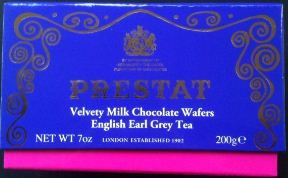 prestat earl grey milk chocolate wafers