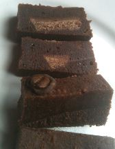bluebasil brownies coffee irish cream cut