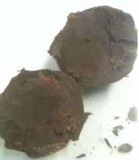 kings ginger truffles cut open