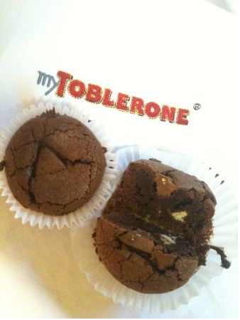 toblerone tricolour brownies