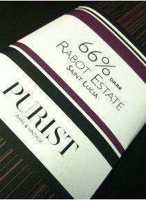 Hotel Chocolat Rabot Estate 66% purist bar