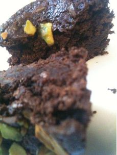 gails pistachio brownies