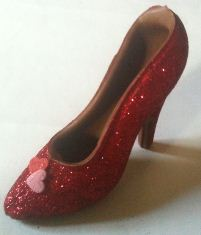 red shoe chocolate unwrapped