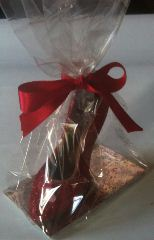 red shoe chocolate