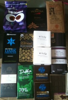 chocolate tasting session