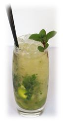 white grape mojito