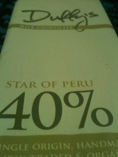 duffy star of peru milk chocolate bar