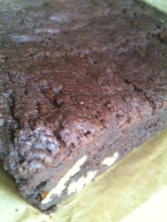 chocolate ladies brownies cut