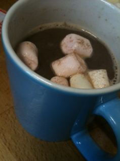 vanilla chilli hot chocolate mug
