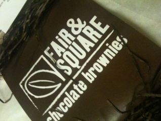 Fair & Square Chocolate Brownies packaging