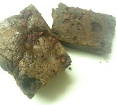 Fair & Square Chocolate raspberry brownie