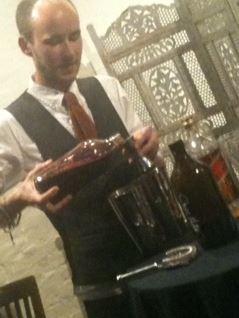 blending cocktails