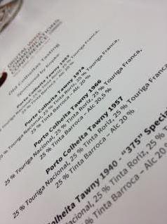 kopke tasting menu