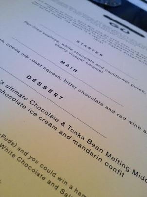 choc week menu