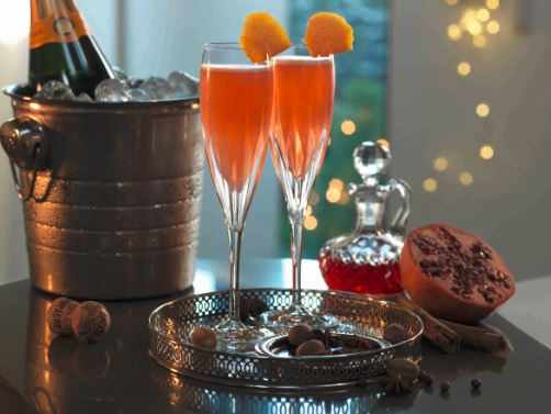 mulled champagne cocktail