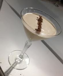 A picture from the evening - chocolate chilli martini
