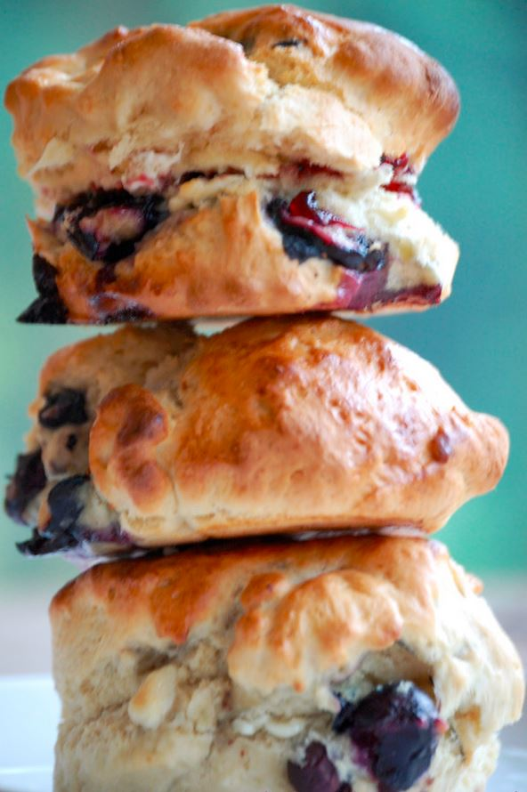 Blueberry and White Chocolate Scones