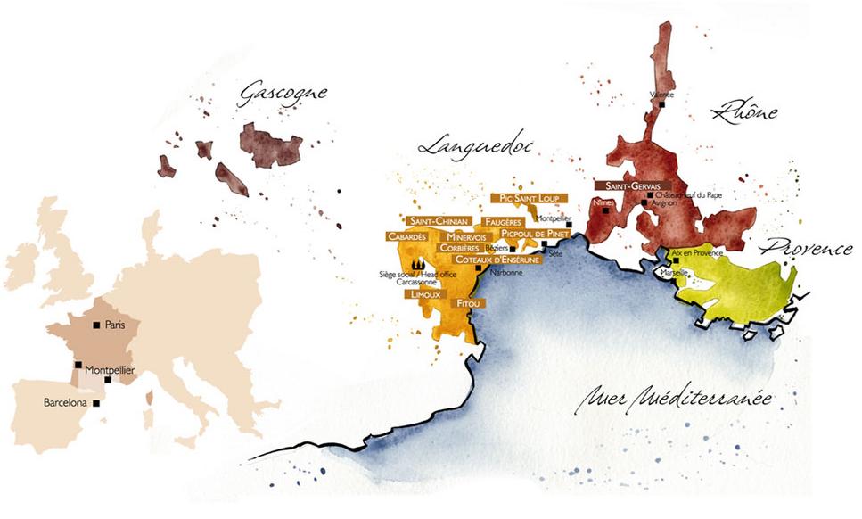 Les Vignobles Foncalieu Map