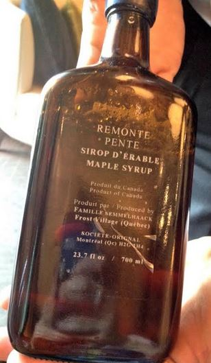 remonte pente maple syrup