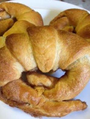 finished croisant cinnamon bun