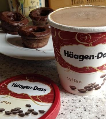 Mocha Chocolate Brownie Bowl Recipe for Haagen-Dazs Coffee Ice Cream