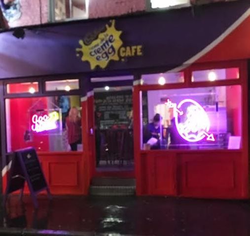 Creme Egg Cafe shop
